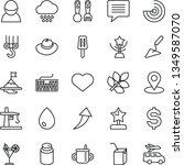 thin line vector icon set  ... | Shutterstock .eps vector #1349587070