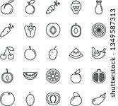 thin line vector icon set  ... | Shutterstock .eps vector #1349587313