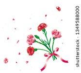 carnation bouquet of carnation  ... | Shutterstock .eps vector #1349588000
