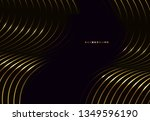 abstract black and gold... | Shutterstock .eps vector #1349596190