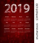 colorful calendar design | Shutterstock . vector #1349605130
