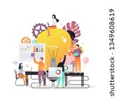 vector illustration of big... | Shutterstock .eps vector #1349608619