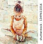 Little Ballerina Sitting On Th...