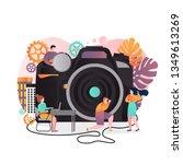 vector illustration of big... | Shutterstock .eps vector #1349613269