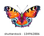 Stock photo watercolor butterfly 134962886