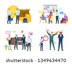 successful workers hipster... | Shutterstock .eps vector #1349634470
