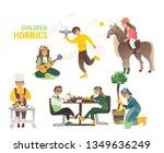hobbies of children and... | Shutterstock .eps vector #1349636249