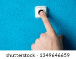 close up of man's hand pressing ... | Shutterstock . vector #1349646659