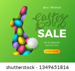 easter sale banner with... | Shutterstock .eps vector #1349651816