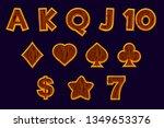 set slot machine icons. gaming...
