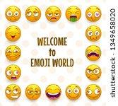 emoji frame. funny vector... | Shutterstock .eps vector #1349658020