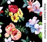 bouquets floral botanical... | Shutterstock . vector #1349678906