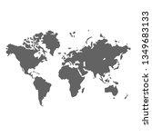 world map. earth planet design... | Shutterstock . vector #1349683133