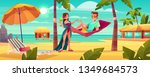 summer vacation on tropical... | Shutterstock .eps vector #1349684573