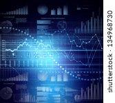 abstract high tech background... | Shutterstock . vector #134968730