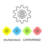 grey gear with dollar symbol... | Shutterstock .eps vector #1349698460
