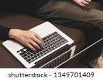 businessman using laptop...   Shutterstock . vector #1349701409