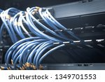 network ethernet cables and...   Shutterstock . vector #1349701553