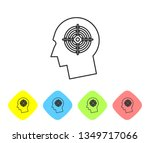 grey head hunting concept line... | Shutterstock .eps vector #1349717066