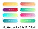 vector set of modern gradient... | Shutterstock .eps vector #1349718560
