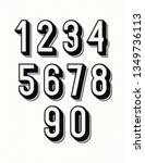 numbers set 3d bold style... | Shutterstock .eps vector #1349736113