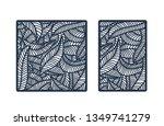 vector stencil for laser cut.... | Shutterstock .eps vector #1349741279