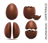 realistic 3d detailed chocolate ... | Shutterstock .eps vector #1349749613