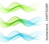 set of abstract smooth waves.... | Shutterstock .eps vector #1349752289