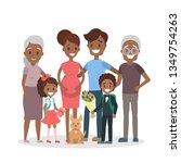 happy big african american... | Shutterstock . vector #1349754263