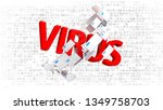 internet threat  many infected...   Shutterstock . vector #1349758703