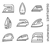 smoothing iron icons set.... | Shutterstock . vector #1349760950