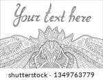 beautiful coloring book page...   Shutterstock .eps vector #1349763779