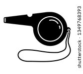 sport whistle icon. simple...