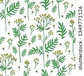 seamless pattern tansy flower...   Shutterstock .eps vector #1349771126