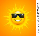 a happy smiling sun with sun...   Shutterstock .eps vector #1349780696