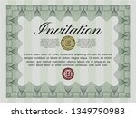 green retro vintage invitation. ... | Shutterstock .eps vector #1349790983