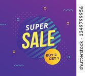abstract modern super sale... | Shutterstock .eps vector #1349799956