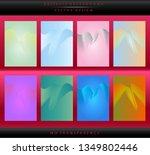 set of brochure   flyer cover... | Shutterstock .eps vector #1349802446
