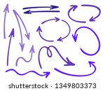 hand drawn diagram arrow icons... | Shutterstock .eps vector #1349803373