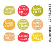 vector set of round colorfull... | Shutterstock .eps vector #1349810666