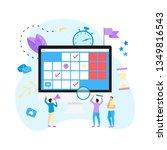 online calendar with marks ... | Shutterstock .eps vector #1349816543
