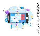online calendar with marks ... | Shutterstock .eps vector #1349816546