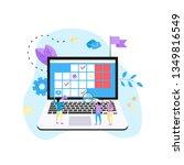 online calendar with marks ... | Shutterstock .eps vector #1349816549