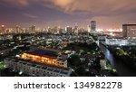 bangkok downtown skyline near... | Shutterstock . vector #134982278