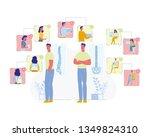 spine diseases prevention flat... | Shutterstock .eps vector #1349824310