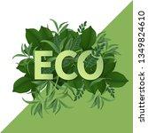 go green day. eco friendly...   Shutterstock .eps vector #1349824610