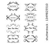 set of vector vintage frames... | Shutterstock .eps vector #1349825510