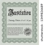 green vintage invitation. money ... | Shutterstock .eps vector #1349826689