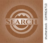 search wooden emblem. vintage. | Shutterstock .eps vector #1349826713