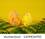 easter holiday background.... | Shutterstock . vector #1349826950